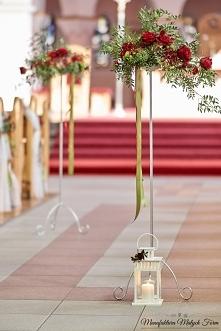 Florystyczna dekoracja kościoła - ŚLUB
