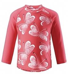 Reima Koszulka Do Pływania Borneo - Bright Red Uv 50+ 98