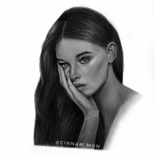 Kolejny rysunek, tym razem modelki :) Zapraszam na mój instagram