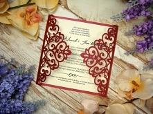 ażurowe zaproszenie ślubne ...