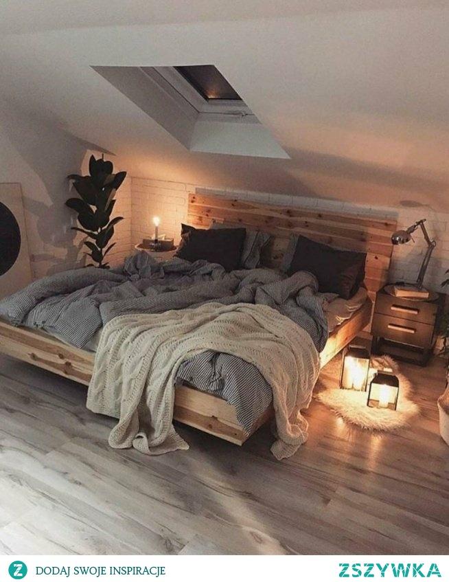 Bardzo klimatyczna sypialnia *.*