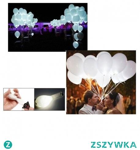 """Piątek, piąteczek, piątunio:) Sam przyszedł:)  Przydadzą się na wesele czy inne przyjęcia okolicznościowe - Świecące Balony Led z Helem - Białe  Balony po aktywowaniu diody LED świecą prze 24h.  Kupując wybierz: -sam balon czy np. -balon + hel  Tym co organizują """"poprawiny"""" polecamy zakupić 2 komplety:)  Miłego weekendu:)"""