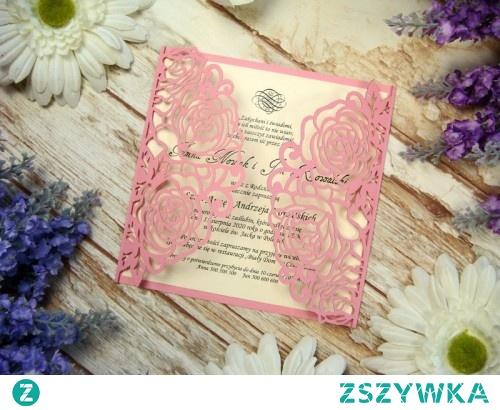 Ażurowe Zaproszenia Na ślub Różany Ogród Więcej Wzorów Na Stro Na