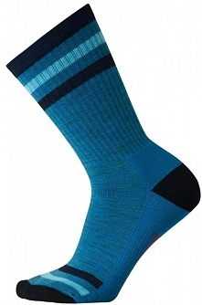 Smartwool W Striped Hike Light Crew Glacial Blue S