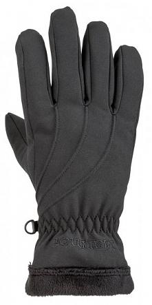 Marmot Damskie Rękawiczki Softshell Wm's Fuzzy Wuzzy Glove Black Xs