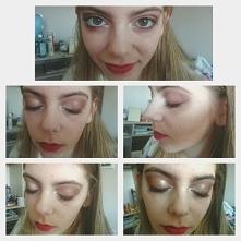 Taki makijaż na mojej przyjaciółce, moim zdaniem nie jest najgorszy, efekt nu...