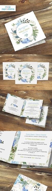 Zaproszenia ślubne Zimowy las