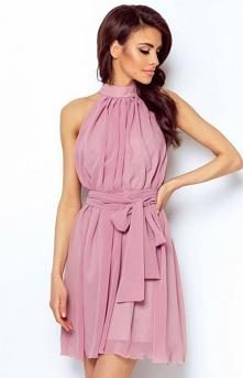 821af91f98 Ivon Livia sukienka wrzosowa Zjawiskowa lekka sukienka wykonana z  delikatnego szyfonu