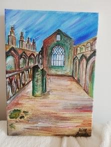 Szkocja, Edynburg, ruiny opactwa Holyrood. Wspomnienia z dawnej wycieczki @nieidentyczna