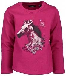 Blue Seven Koszulka Dziewczęca Z Koniem 98 Różowa