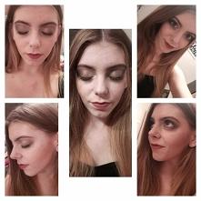 Z racji iż gonimy z przyjaciółką na imprezę-wieczorowy makijaż :-)