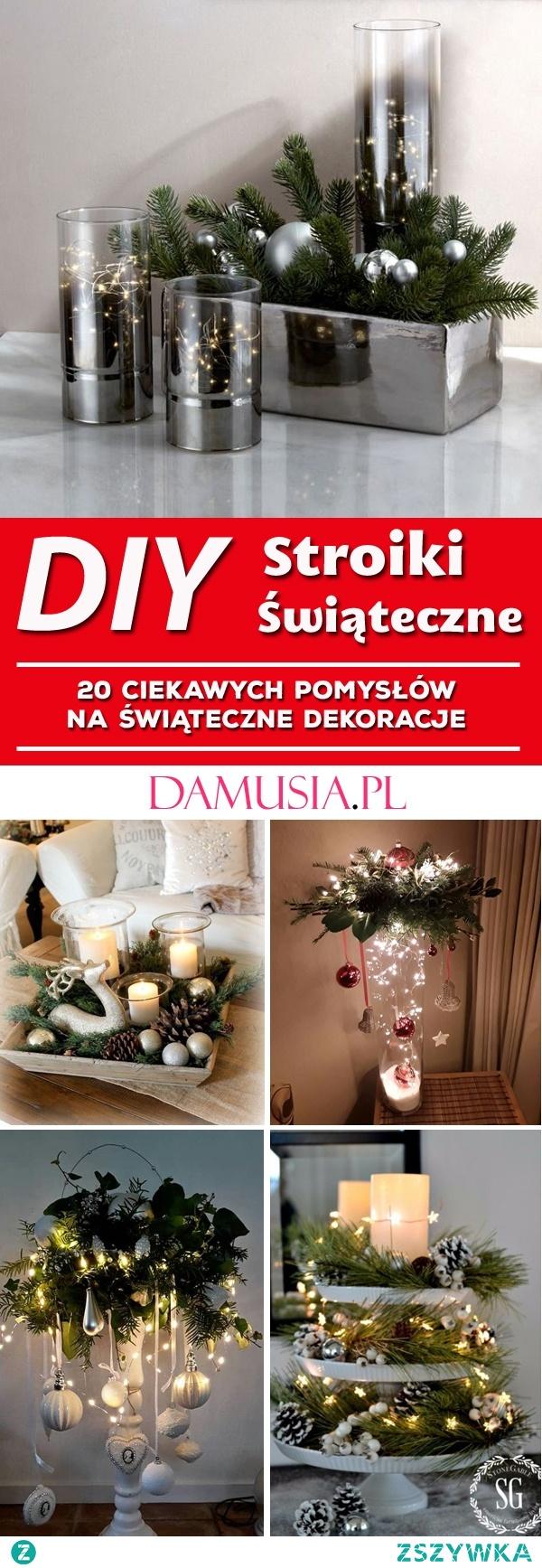 Świąteczne Stroiki DIY Do Twojego Domu: 20 Ciekawych Pomysłów Na Świąteczne Dekoracje