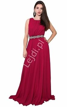 Długa szyfonowa suknia w st...