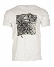 Pepe Jeans T-Shirt Męski Ladbroke Xl Jasnoszary