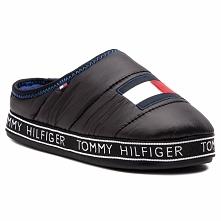 Kapcie TOMMY HILFIGER - Flag Patch Downslipper FM0FM02004 Black 990