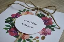 Storczyki na zaproszeniu ślubnym  więcej informacji na poligrafiapr@interia.pl