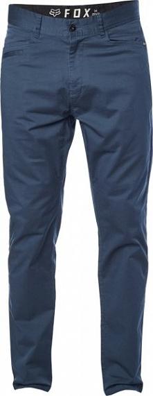 FOX Spodnie Męskie Stretch Chino 30 Niebieski