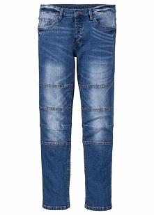 Dżinsy ze stretchem Skinny Fit Straight bonprix Niebieski