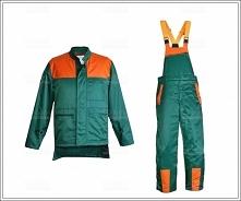 ubrania letnie pilarza, spodnie ogrodniczy i kurtka