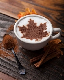 Kawa z cynamonem ♥️