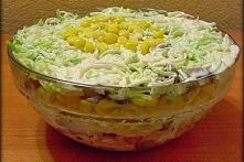 Sałatka na ostro- czyli por i kurczak w sosie czosnkowym