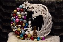 Wianek bożonarodzeniowy na drzwi własnoręcznie wykonany.