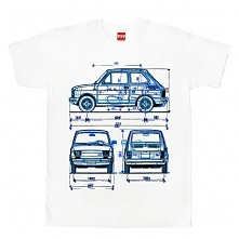 koszulka FIAT 126 MALUCH X 3 tshirt