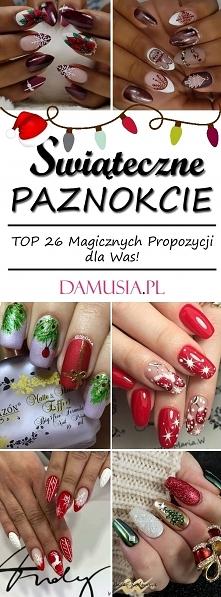 Najmodniejsze Wzory i Inspiracje na Świąteczne Paznokcie: TOP 26 Magicznych P...