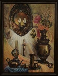 Obraz olejny o wymiarach 76x56 cm, z ramą 88 x 68 cm. Płótno na blejtramie. O...