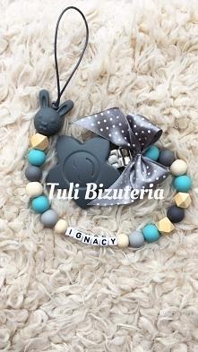Zawieszka do smoczka z imieniem dziecka, idealna na prezent by Tuli Biżuteria, więcej zdj na FB Tuli Biżuteria