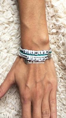Bransoletka z imieniem, imionami, inicjałami, dowolnymi napisami, idealna na prezent by Tuli Biżuteria, więcej zdj na FB Tuli Biżuteria