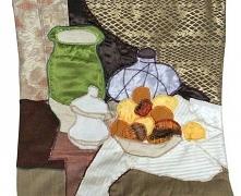 Poszewka dekoracyjna na poduszkę - Zielony wazon wg Cezanne'a  Poszewka dekoracyjna na poduszkę. Mocno inspirowana martwą naturą z zielonym wazonem Cezannea. Poszewka w odc...