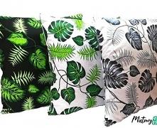 Komplet 3 poszewek na poduszki 'Jaśki' ~ Miętowy Słoń... ... oryginalne, stylowe, wyjątkowe.    Praktyczne i oryginalne poszewki na poduszki. Czarna w zielone liście, ...