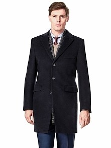 Płaszcz w kolorze ciemnogranatowym