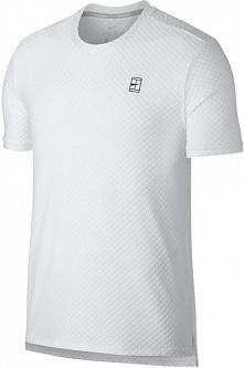 Nike  Męska Koszulka Sportowa M Nkct Top Ss Checkered Bl White Black S