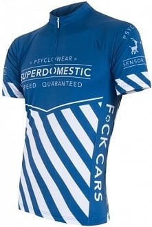 Sensor Męska Koszulka Z Krótkim Rękawem Cyklo Superdomestic Blue