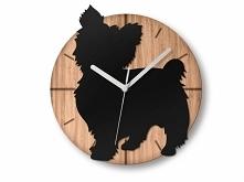 """Kolejny zegar z serii """"Lovely Dogs"""" :)  Możemy zaprojektować zegar ..."""