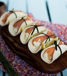 Roladki z wędzonego łososia z serem. Przekąska sylwestrowa.