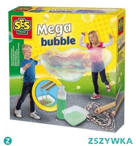 Jak zrobić wielką bańkę mydlaną?   Zanurz sznurek na patyczkach w płynie. Podnieś do góry i ostrożnie rozsuń patyczki. Powoli cofaj się do tyłu i obserwuj, jak bańka staje się coraz większa.  Wystarczy zestaw do robienia dużych baniek mydlanych dla dzieci już od lat 3.   Przyznajemy się, też puszczaliśmy bańki:)