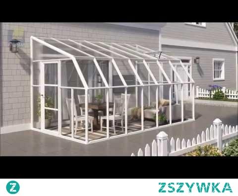 Film przedstawiający ogród zimowy Sun Room Palram. Prezentacja umiejscowienia w przydomowej przestrzeni.