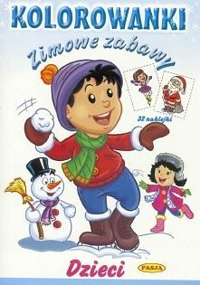 Kolorowanka. Zimowe zabawy - Dzieci