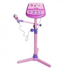 Mikrofon karaoke dla dziecka z regulowanym statywem LED-y Z119