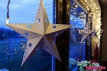 Papierowe gwiazdy ala IKEA DIY - szablon na blogu