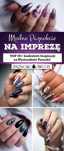 Modne Paznokcie na Imprezę – TOP 20+ Szałowych Inspiracji na Wystrzałowe Pazu...