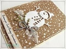 Kartka świąteczna.  Kartka wykonana z należytą starannością i dbałością o każ...