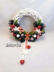 Wianek świąteczny,śr.30 cm handmade