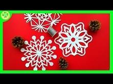 Papierowa wycinankowa śnieżynka / Paper Cut Out Snowflake
