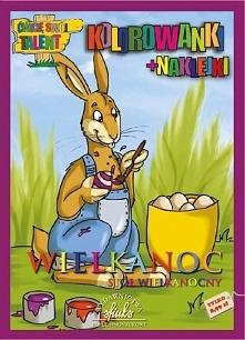 Wielkanoc. Stół wiekanocny - kolorowanki+naklejki - 100171