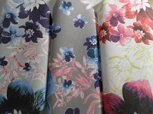 Materiały z nadrukiem wzorów: Kompozycja kwiatowa - seria 1,2,3 - cottonbee.pl