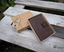 Duży portfel męski skórzany, bardzo trwały, wytrzymały i solidnie wykonany. U...